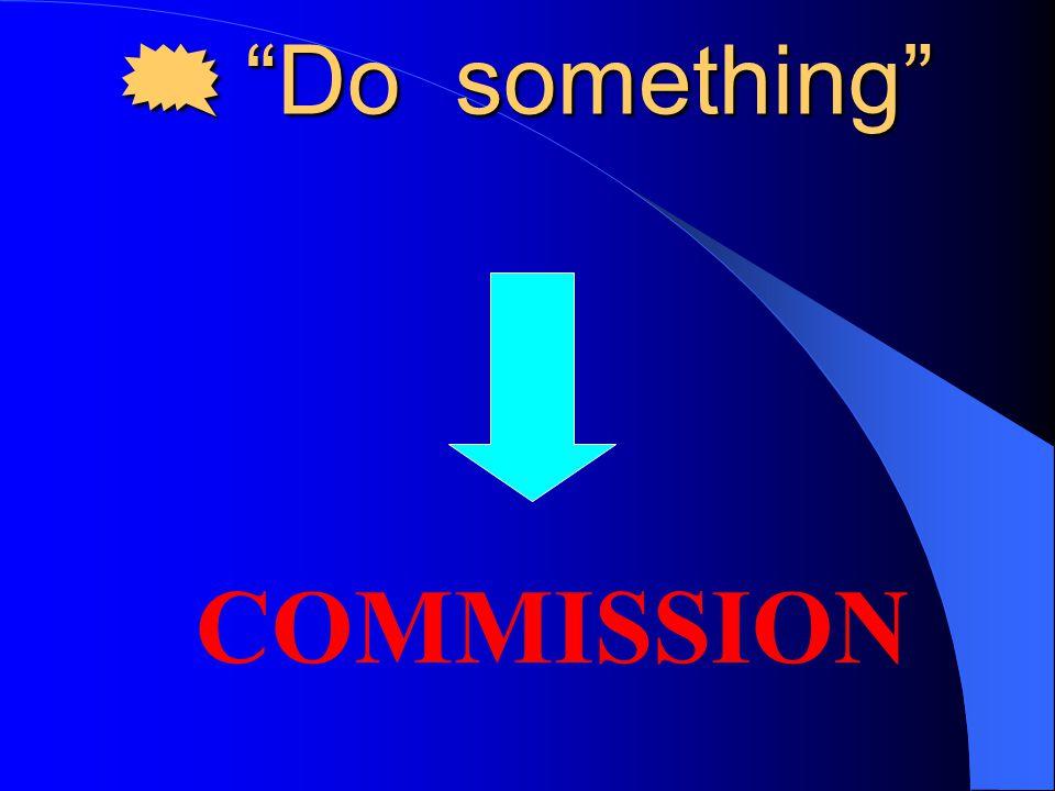  Do something COMMISSION