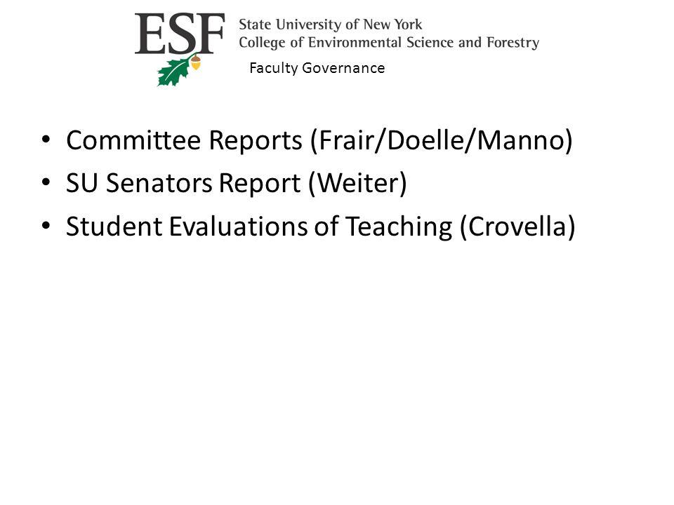 SU Senators Report Your Senators this year are: Stephen Weiter – spweiter@esf.eduspweiter@esf.edu Kelley Donaghy – kdonaghy@esf.edukdonaghy@esf.edu