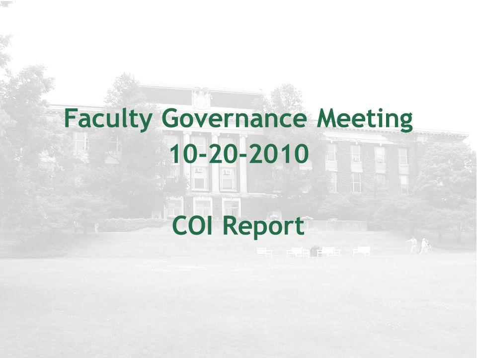 Today's Topics COI Report & Important Deadlines Klaus Doelle