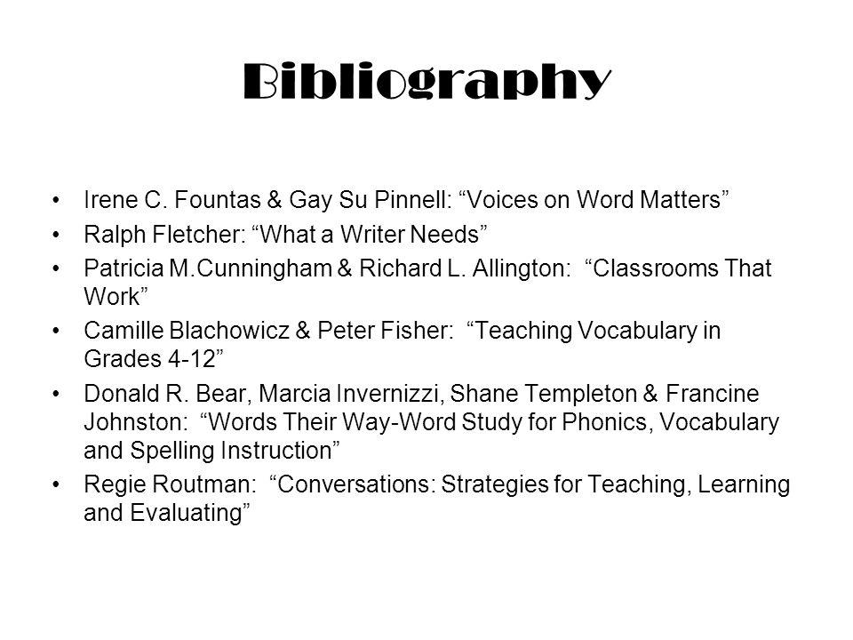 Bibliography Irene C.