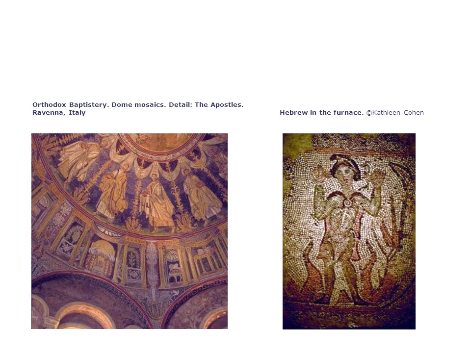 Orthodox Baptistery. Dome mosaics. Detail: The Apostles.
