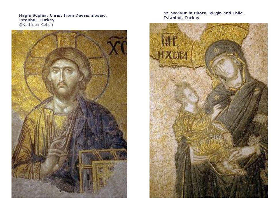 Hagia Sophia. Christ from Deesis mosaic. Istanbul, Turkey ©Kathleen Cohen St.