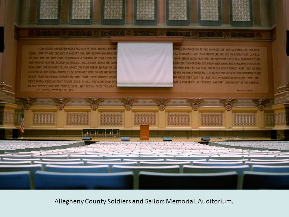 Allegheny County Soldiers and Sailors Memorial, Auditorium.