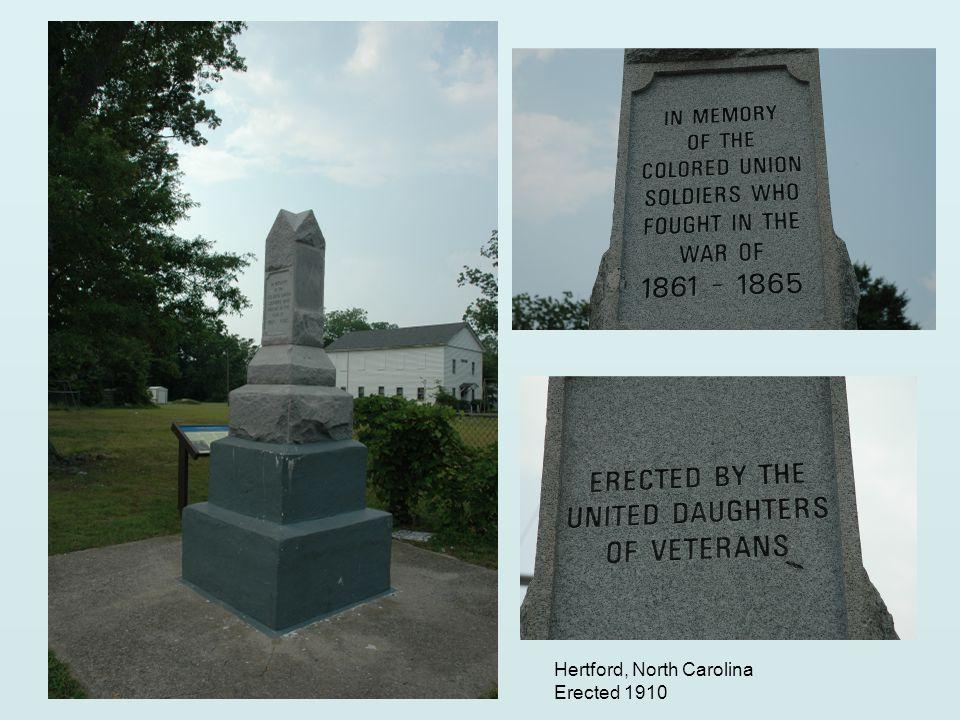 Hertford, North Carolina Erected 1910