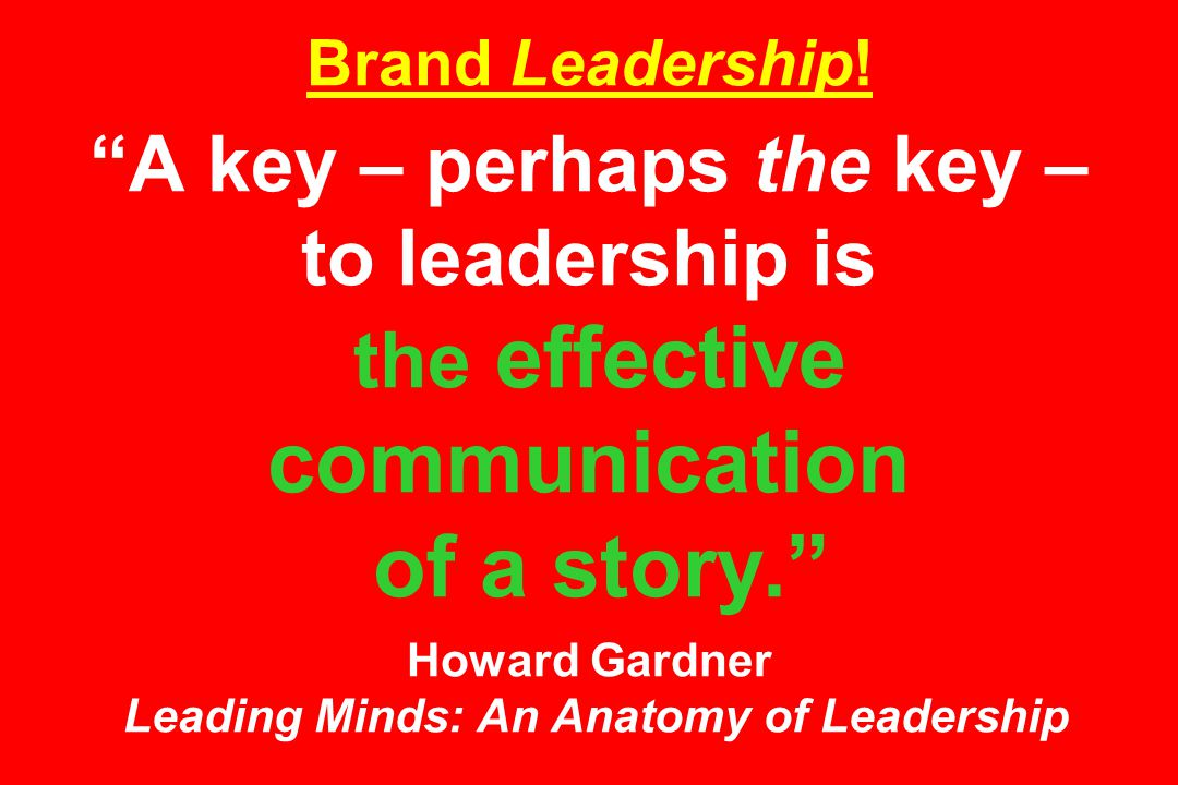 Brand Leadership.