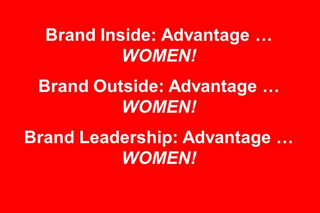 Brand Inside: Advantage … WOMEN. Brand Outside: Advantage … WOMEN.