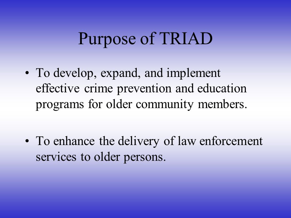 What In the World Is TRIAD.