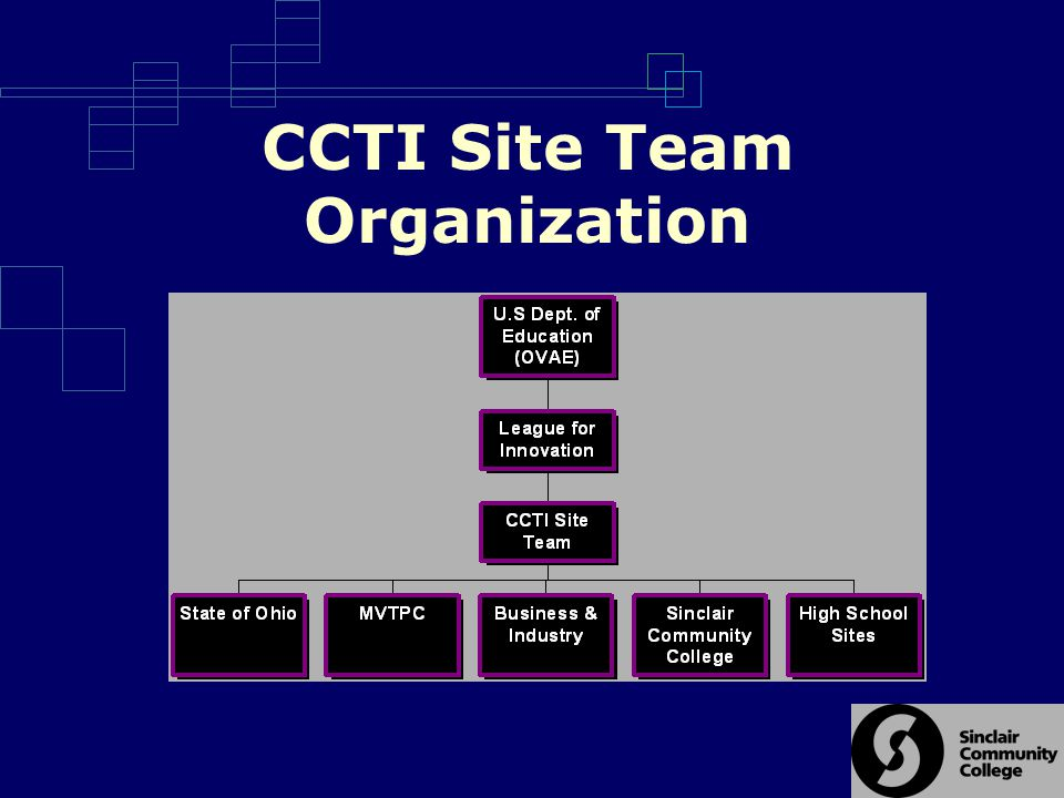 CCTI Site Team Organization