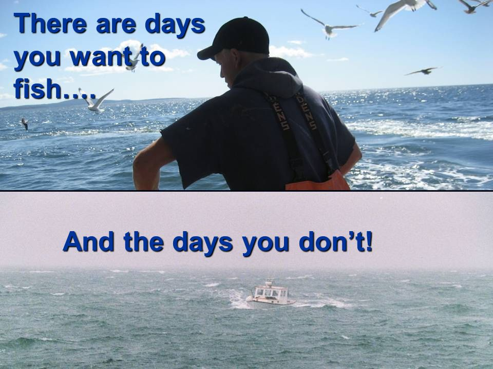 There are days you want to fish…. And the days you don't!