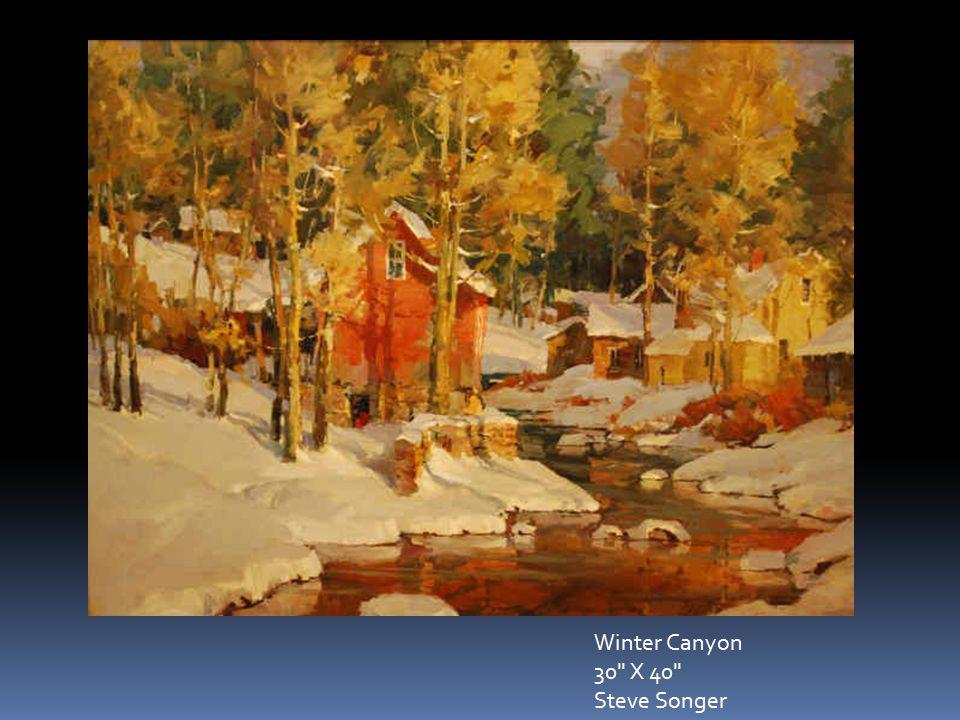 Winter Canyon 30 X 40 Steve Songer
