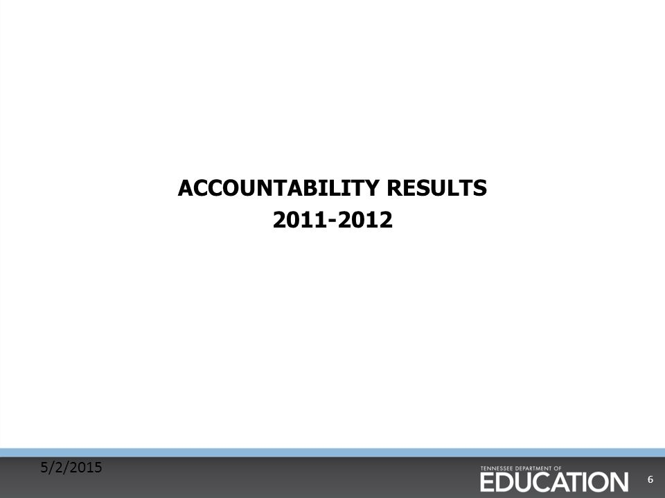 ACCOUNTABILITY RESULTS 2011-2012 5/2/2015 6