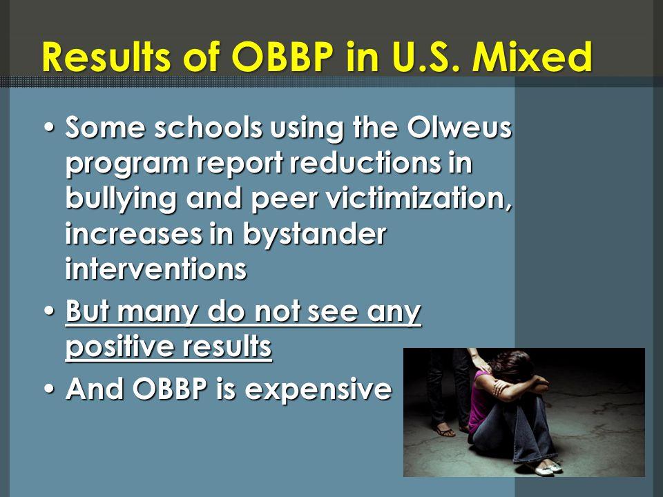 Results of OBBP in U.S.