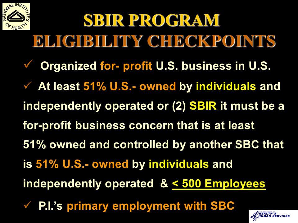 Organized for- profit U.S.business in U.S.