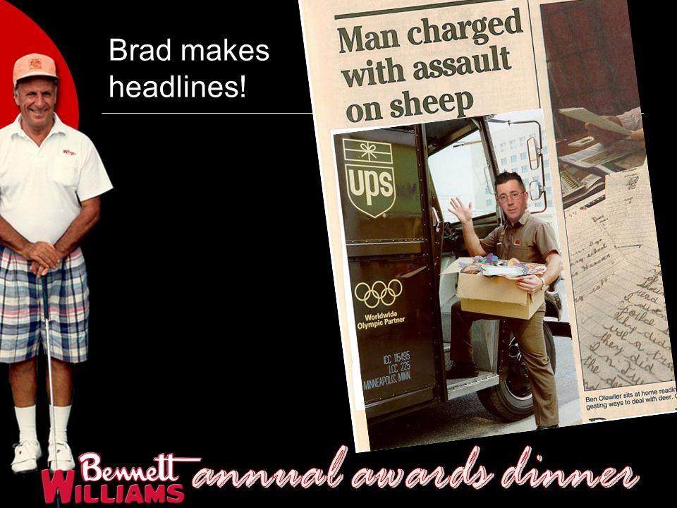 Brad makes headlines!
