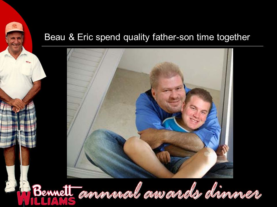 Beau & Eric spend quality father-son time together