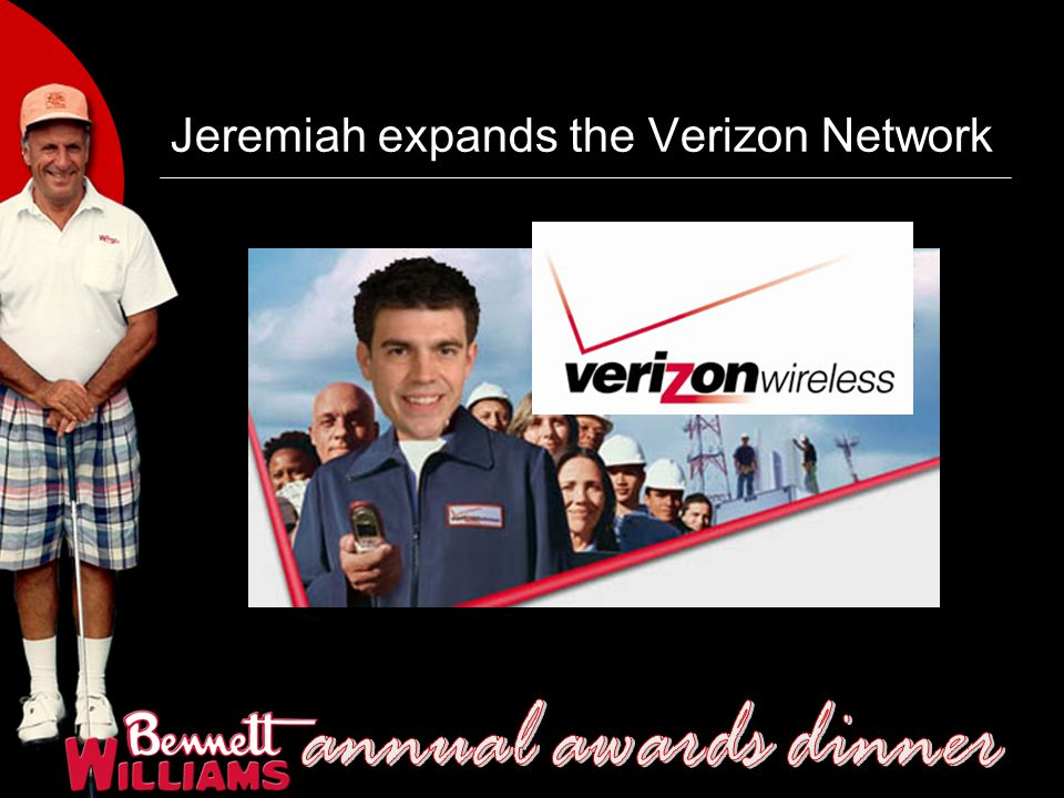 Jeremiah expands the Verizon Network