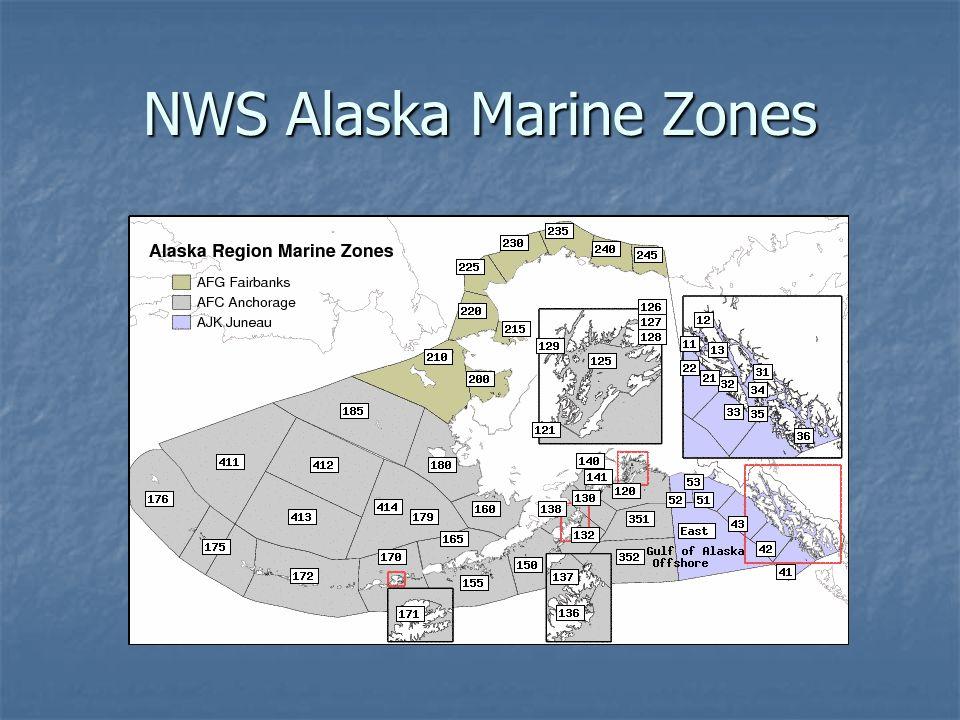 NWS Alaska Marine Zones