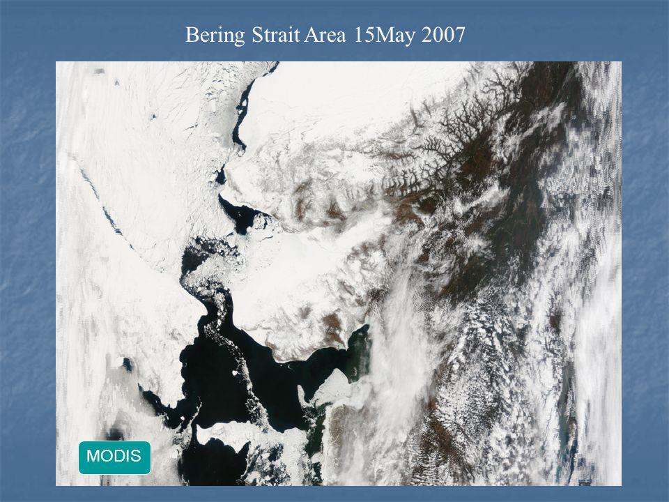 Bering Strait Area 15May 2007 MODIS