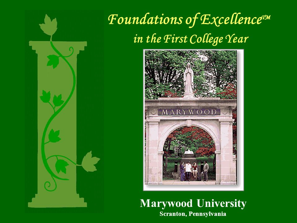 Foundations of Excellence TM in the First College Year Marywood University Scranton, Pennsylvania