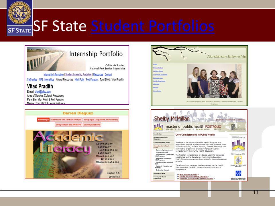 11 SF State Student PortfoliosStudent Portfolios