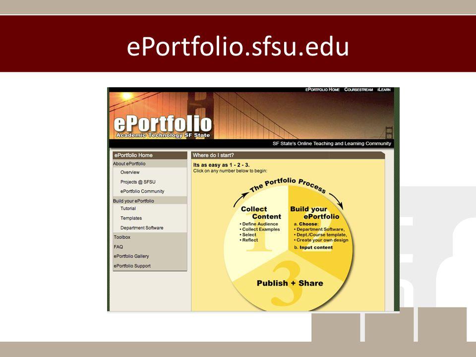 ePortfolio.sfsu.edu