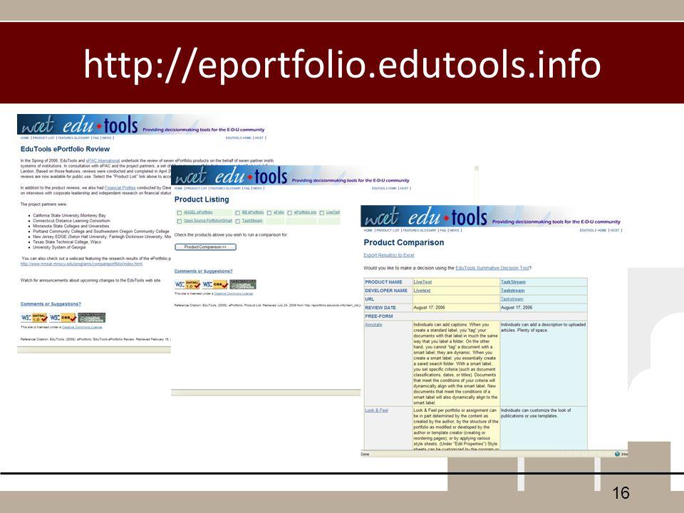 http://eportfolio.edutools.info 16