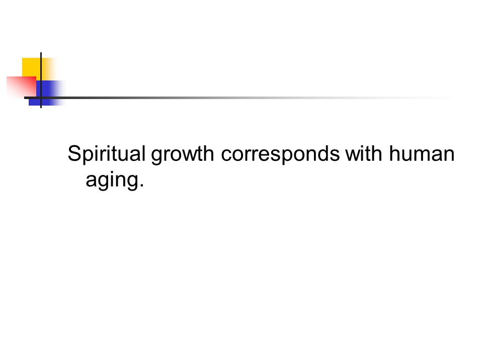 Spiritual growth corresponds with human aging.
