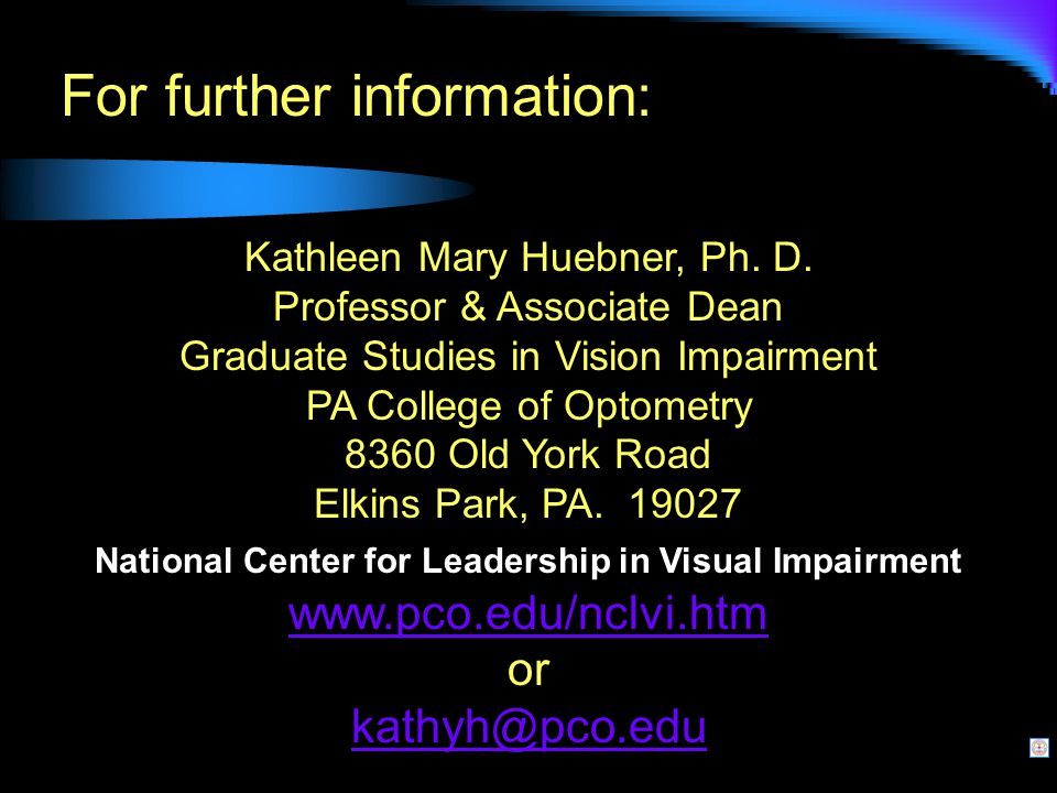 For further information: Kathleen Mary Huebner, Ph.