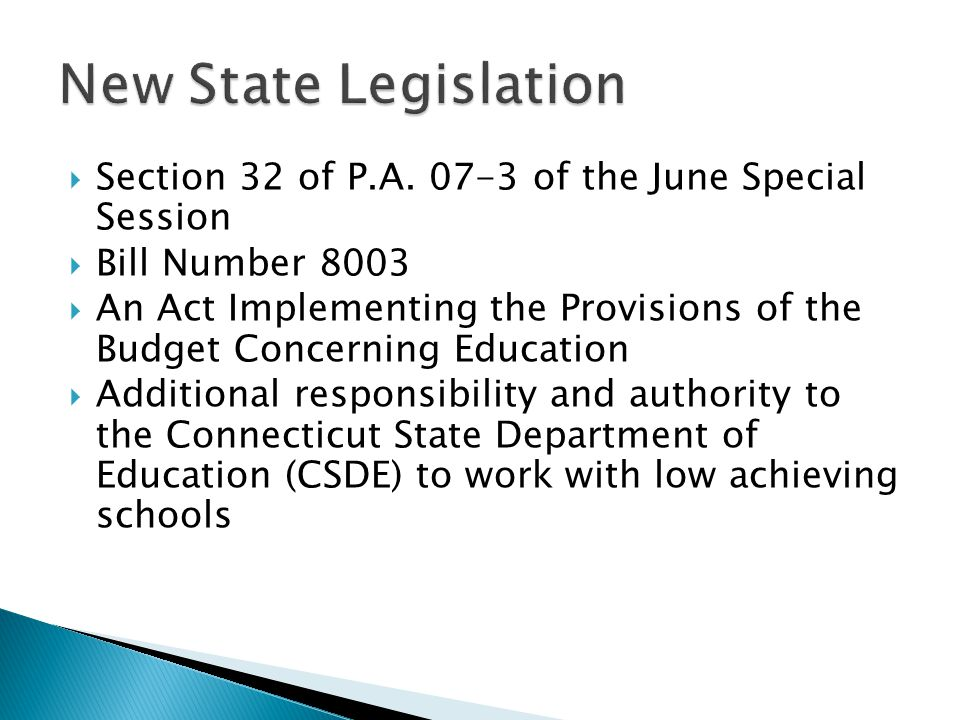  Section 32 of P.A. 07-3 of the June Special Session  Bill Number 8003  An Act Implementing the Provisions of the Budget Concerning Education  Add
