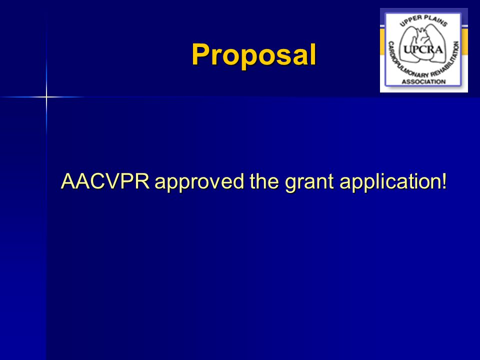 Proposal AACVPR approved the grant application!