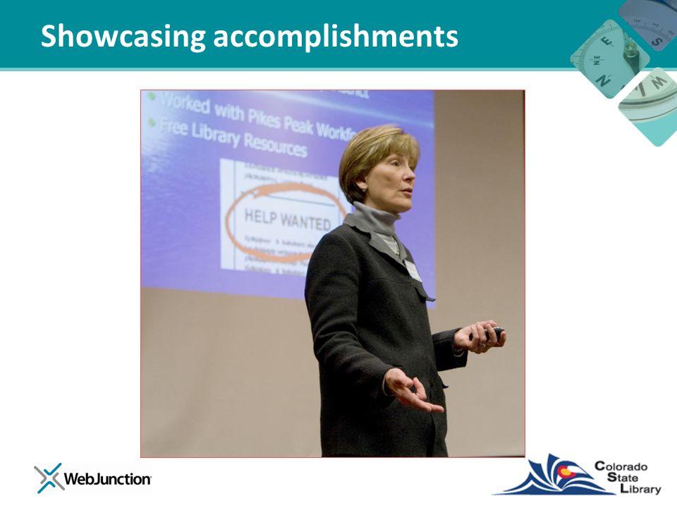 Showcasing accomplishments