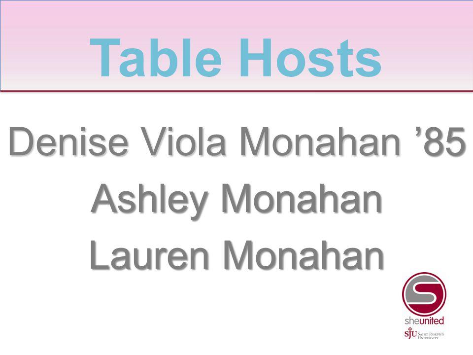 Denise Viola Monahan '85 Ashley Monahan Lauren Monahan Table Hosts