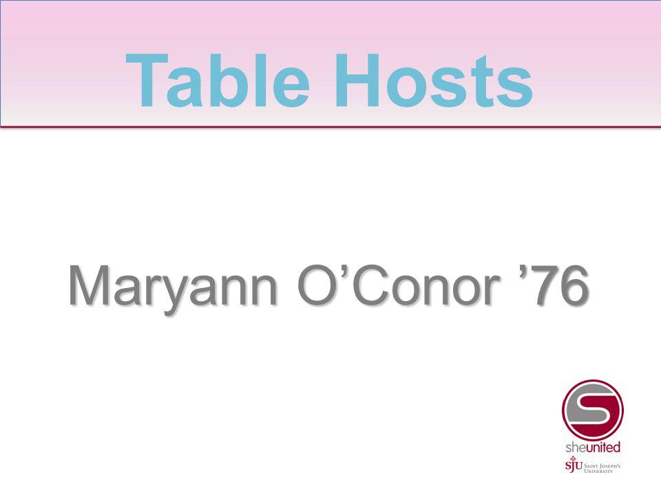 Maryann O'Conor '76 Table Hosts