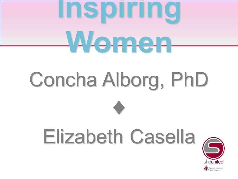 Concha Alborg, PhD ♦ Elizabeth Casella Inspiring Women