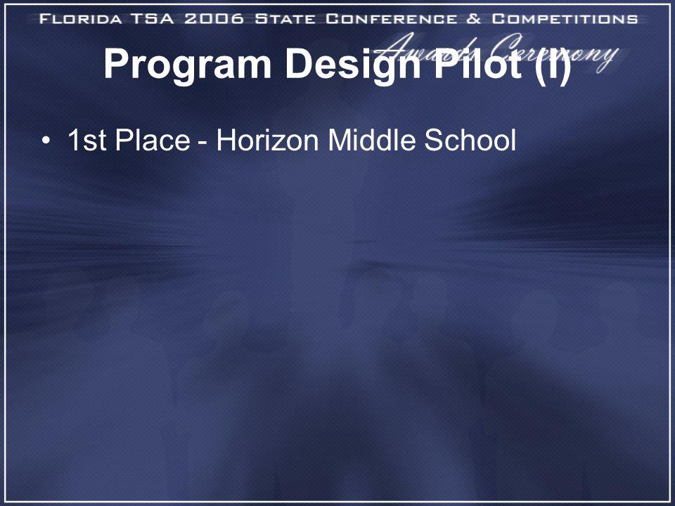 Program Design Pilot (I) 1st Place - Horizon Middle School