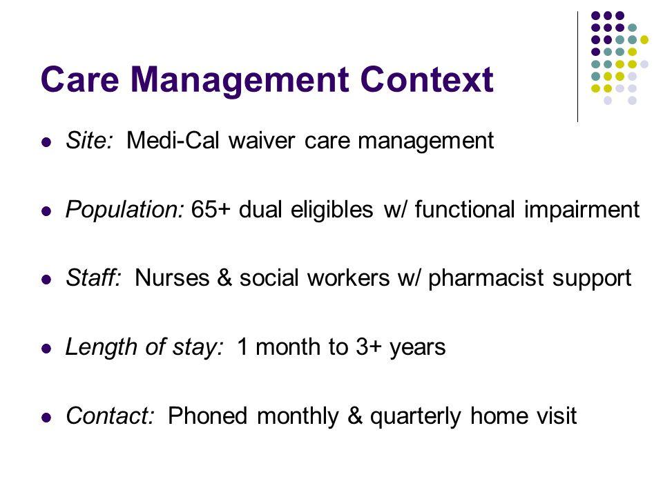 Care Management Sample (N=615) Site #1: n=216 Site #3: n=126 Site #2: n=273