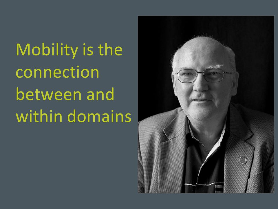 Mobility is the connection between and within domains