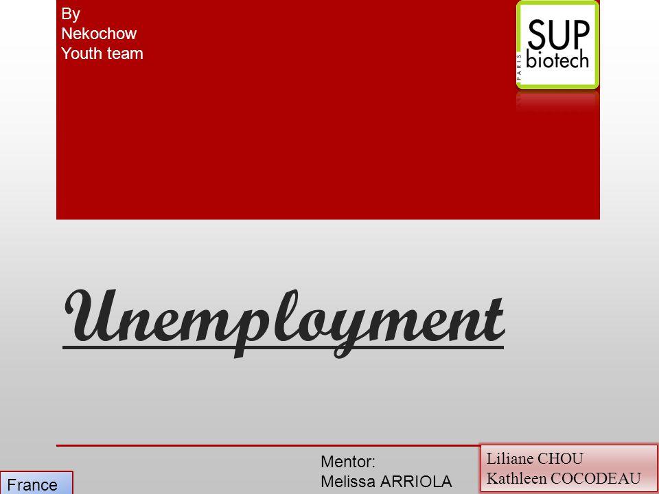 Unemployment Liliane CHOU Kathleen COCODEAU By Nekochow Youth team France Mentor: Melissa ARRIOLA