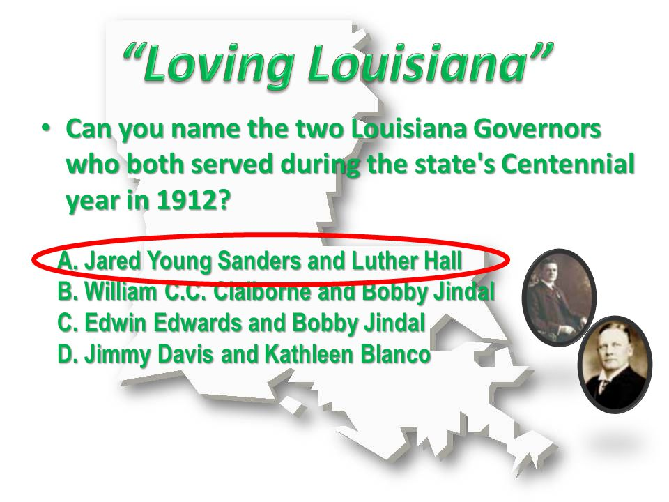 A. Jared Young Sanders and Luther Hall B. William C.C.