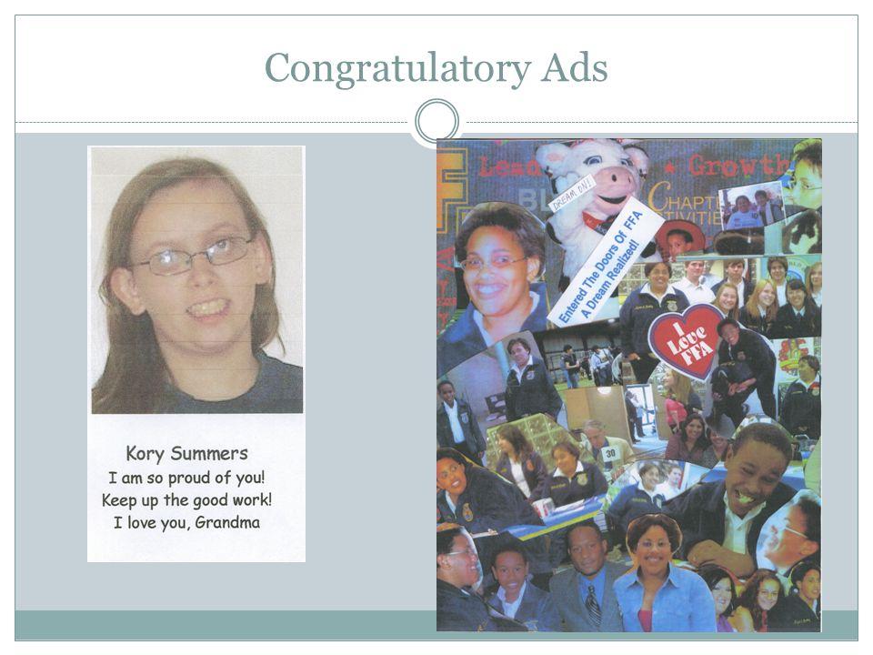 Congratulatory Ads