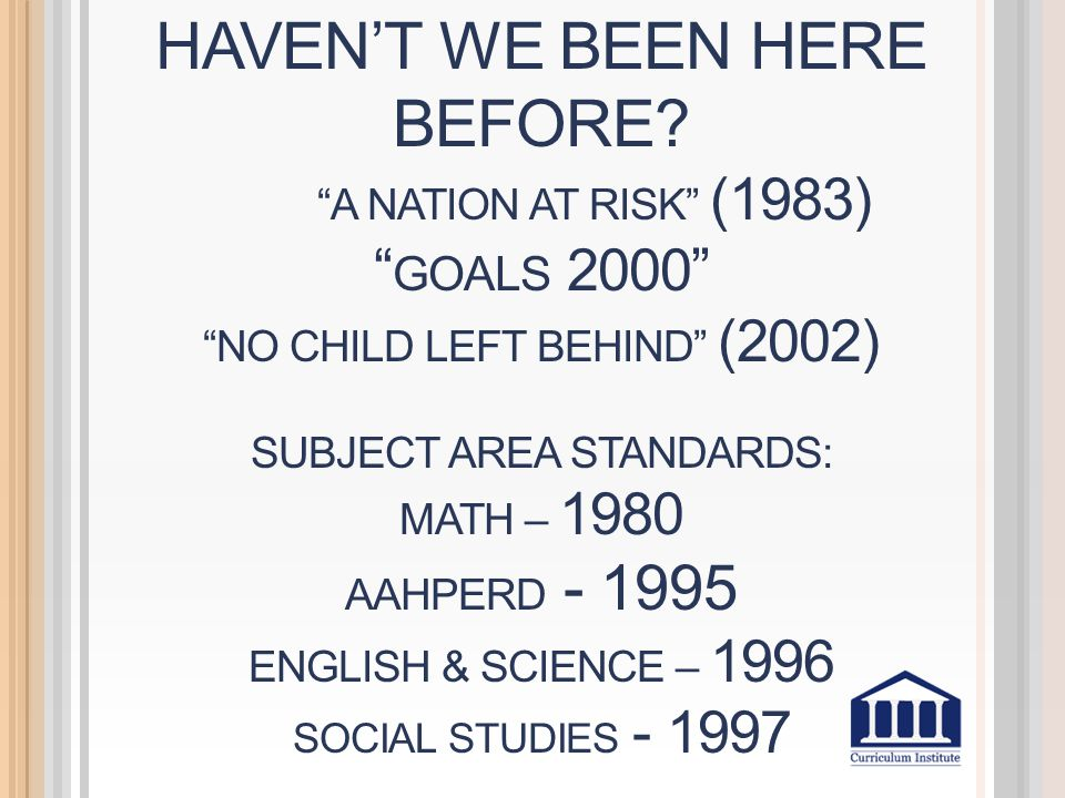 REDEFINING WHAT COUNTS ON ASSESSMENTS & REPORT CARDS What's IN?What's OUT.