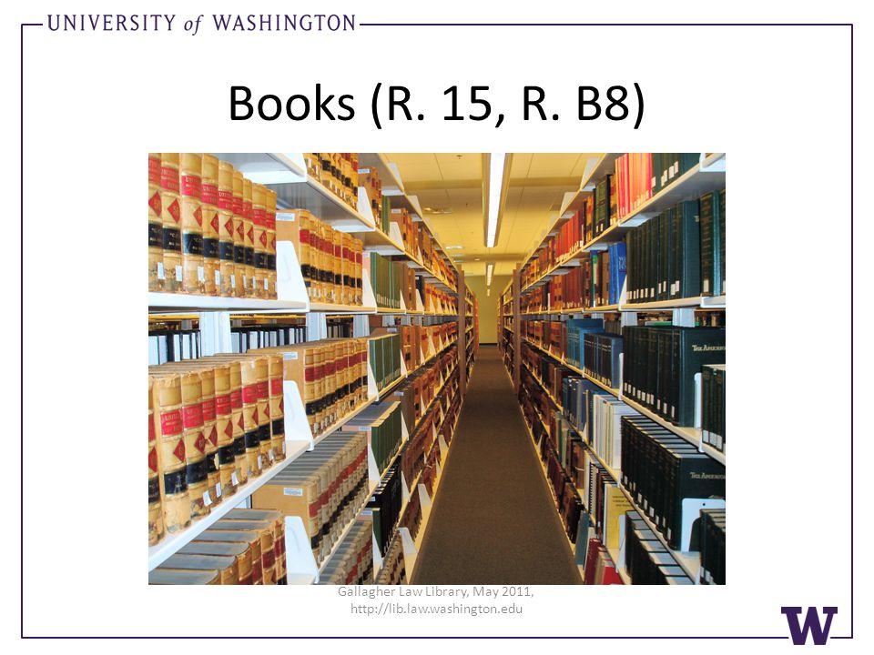 Books (R. 15, R. B8)
