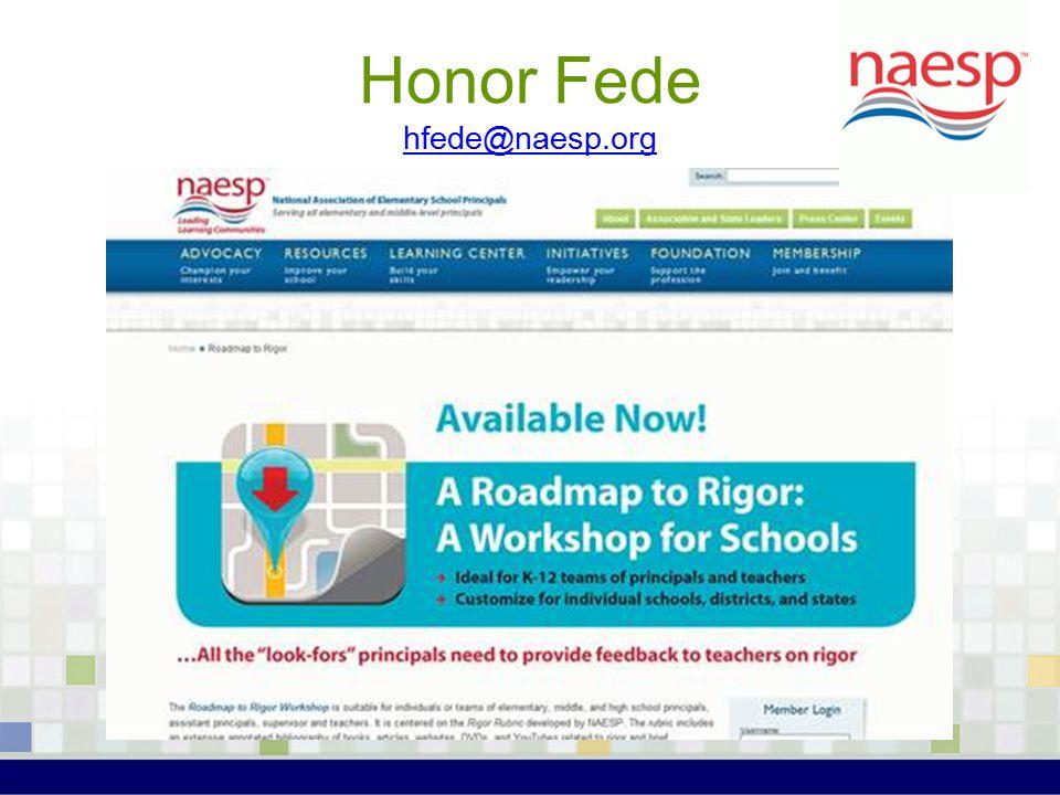 Honor Fede hfede@naesp.org hfede@naesp.org