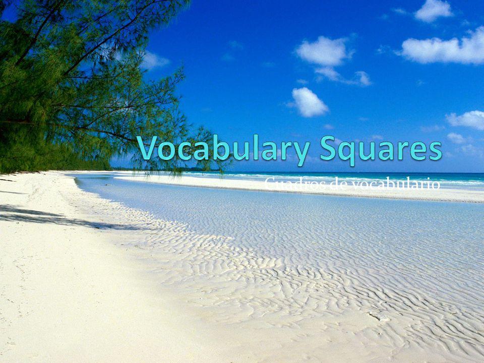 Cuadros de vocabulario