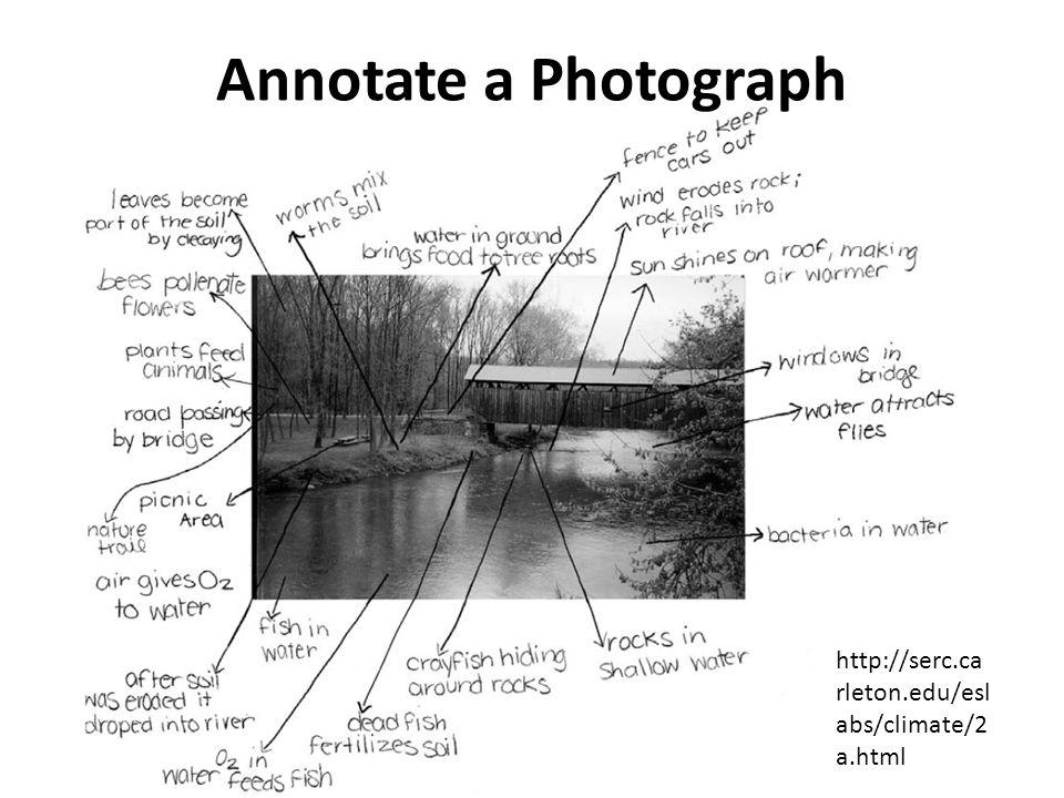 Annotate a Photograph http://serc.ca rleton.edu/esl abs/climate/2 a.html