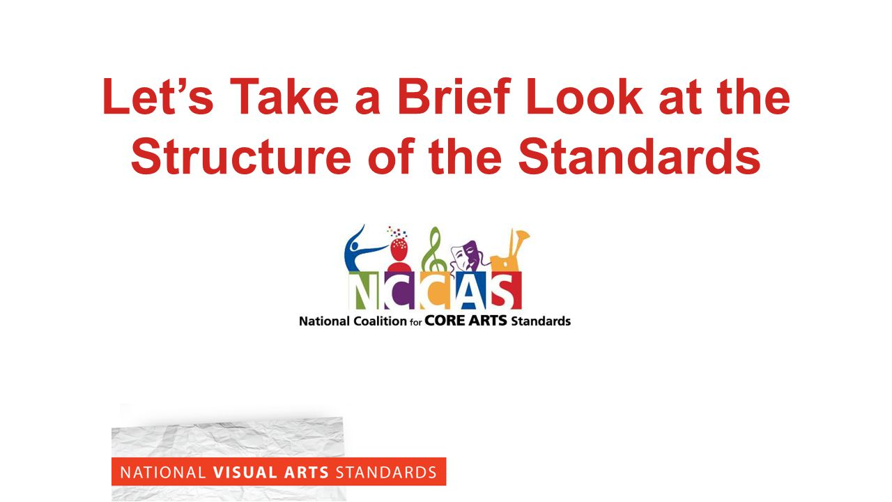 Let's Take a Brief Look at the Structure of the Standards
