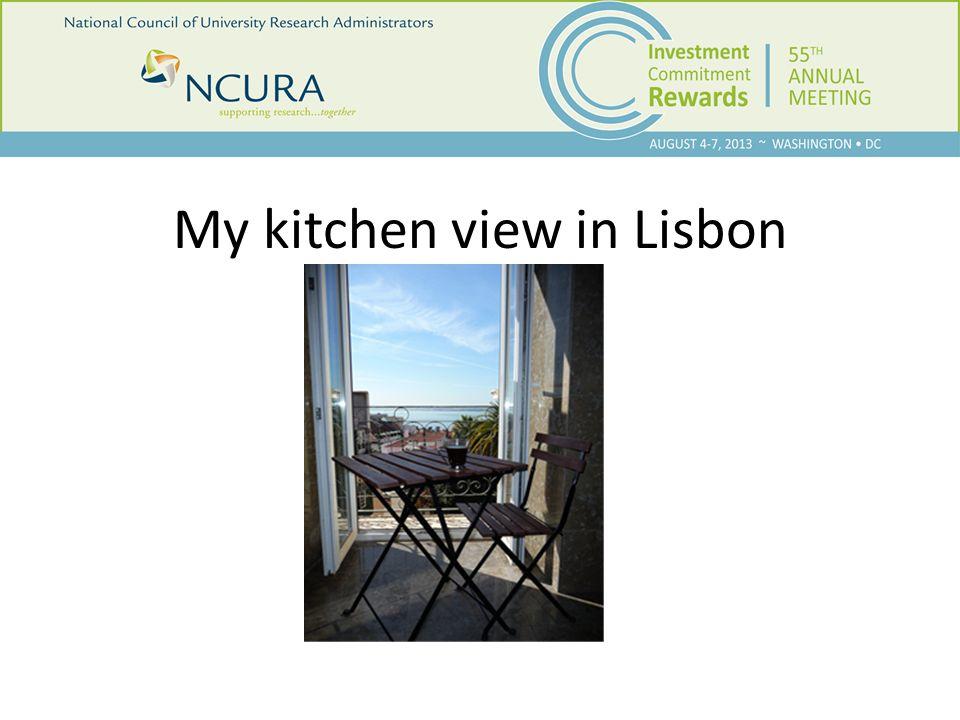My kitchen view in Lisbon