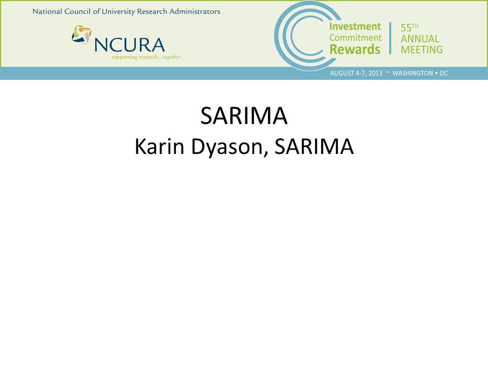 SARIMA Karin Dyason, SARIMA