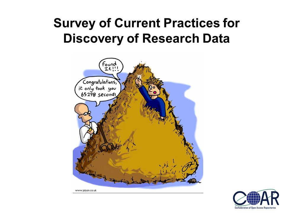 Survey of Current Practices for Discovery of Research Data
