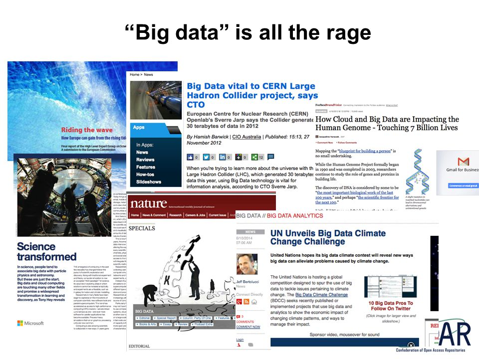 Big data is all the rage
